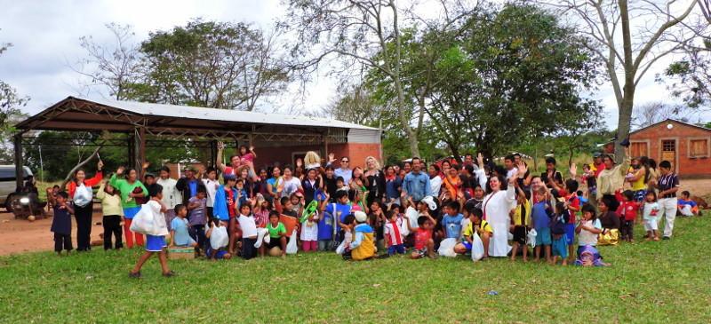 Celebran el día del niño en comunidades indígenas de Caaguazú